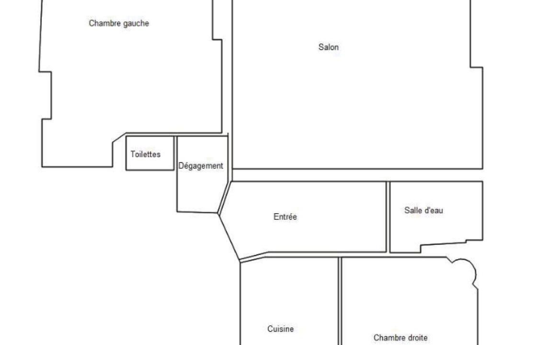 Croquis appartement rue Poulet